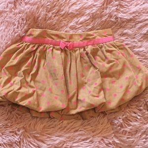 12-18mo baby gap fall Corduroy polka dot skirt